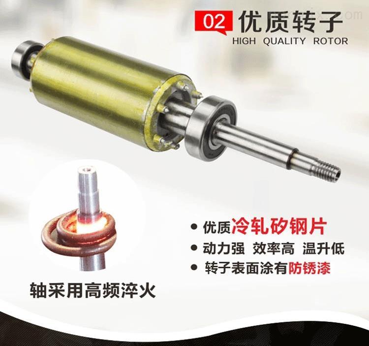 双刀切割泵转子选用优质冷轧硅钢片、轴经高频淬火、转子表面涂有防锈漆,动力强、效率高、温升低