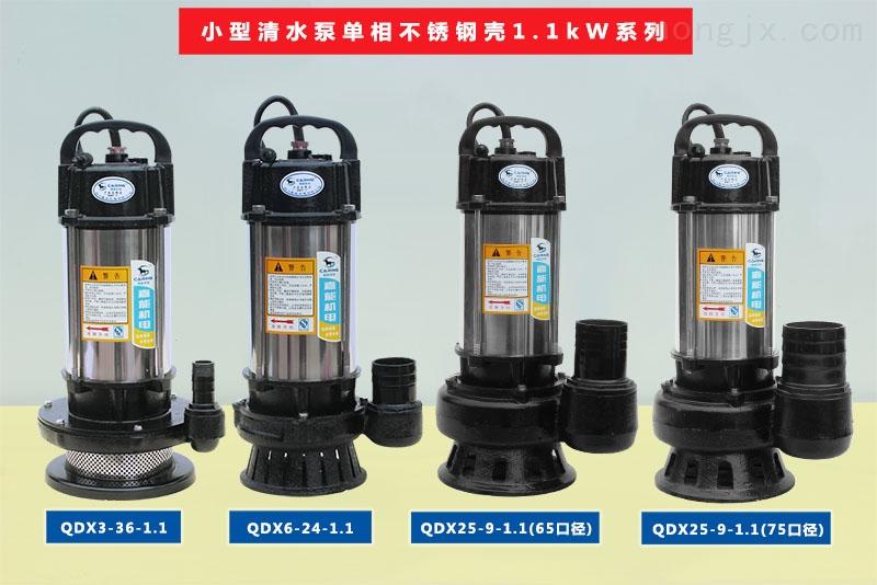 小型清水泵单相不锈钢壳1.1kW系列