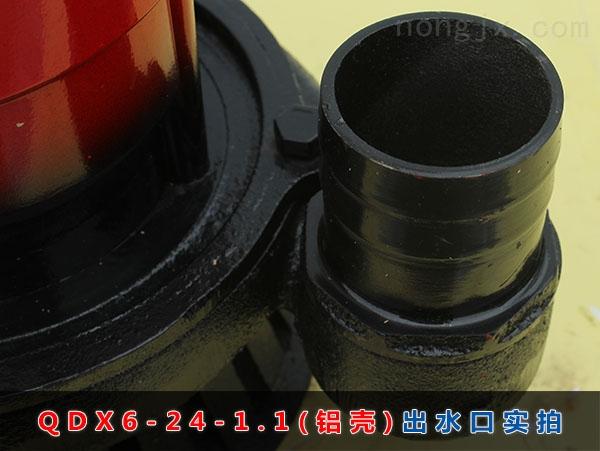 QDX6-24-1.1(铝壳)出水口实拍