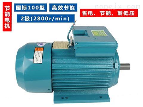 100型国标纯铜芯2极(2800转)单相节能电机-YL100、2800转、220v节能电机系列